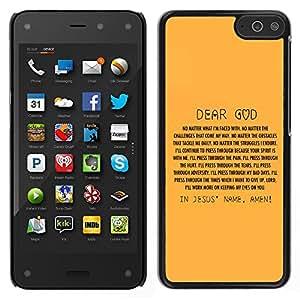 LECELL--Funda protectora / Cubierta / Piel For Amazon Fire Phone -- BIBBIA nel nome di Gesù ' --