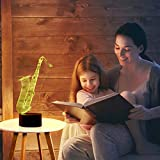 Bedoo 3D Lamp Illusion Night Light, Dimmable 16