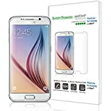 amFilm Galaxy S6 Screen Protector Tempered Glass (Front) and PET (Back) Screen Protector for Samsung Galaxy S6 (NOT S6 Edge) (1-Pack) [in Retail Packaging] [Lifetime Warranty]