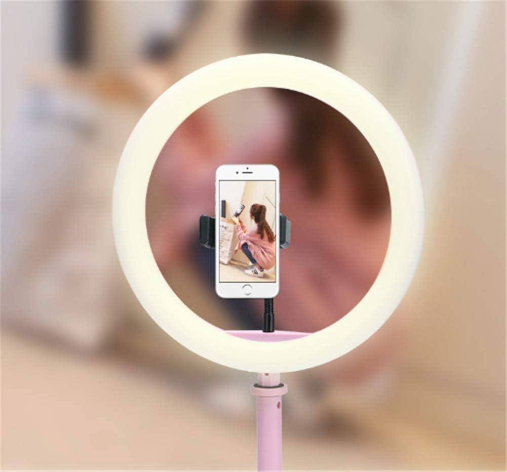 Compact Lightweight Mobile Phone Stand with Fill Light Desktop Tripod Fill Light Bracket White