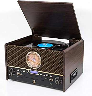 GPO Chesterton Dab Record Player Retro 7-in-1 Music Center ...