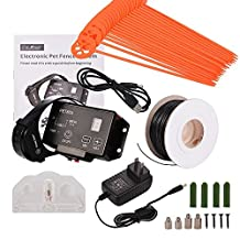Advanced High Performance Wireless Pet Containment System Electronic Dog Fence System with Radio & IN- Ground Cord Electric Transmitter, Easy Plug 'n Play Setup Rechargeable Water Resistant Collar
