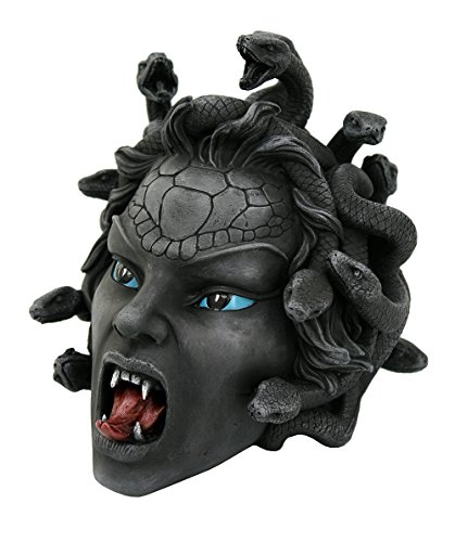 Pacific Giftware The Head of Medusa Collectible Figurine in Stone Finish 8 Inch Tall