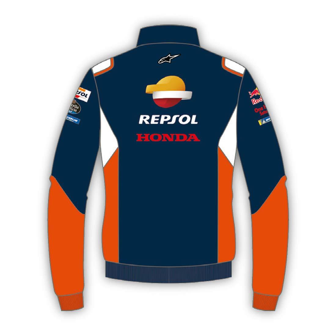 G/én/érique Honda Repsol Moto GP Teamwear Panel Logos Bleu Half Zip Sweatshirt Officiel 2020