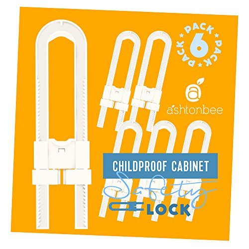 Cabinet Lock for Child Safety - Childproof Your Home. No Screw Drilling Baby  Proofing by Ashtonbee (6 Pack)