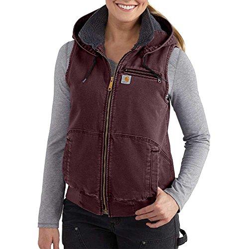 Duck Vest Carhartt (Carhartt Women's Weathered Duck Wildwood Vest, Deep Wine, L)