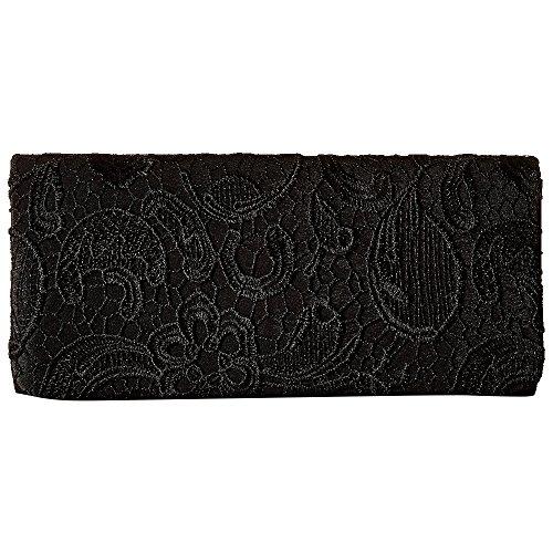 Stylish Party Prom Purple Shoulder Bag Envelope Lace Clutch Women Bag Bag Wedding Black Cckuu Udax6FF