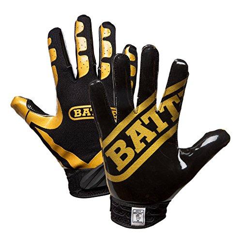 Battle Football Glove, Vegas Gold/Black, Adult Small