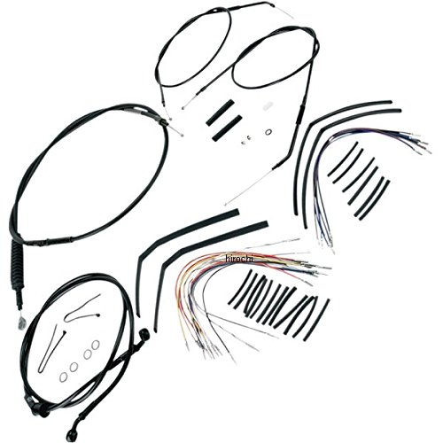 バーリーブランド Burly Brand ケーブル キット 黒 97年-03年 XL 16インチ エイプバー用 0610-0266 B30-1001 B01LYQ8OTI