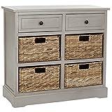 Living Room Custom Wood Grey Storage Unit