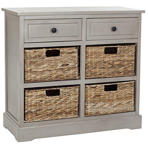 Living Room Custom Wood Grey Storage Unit by Safavieh