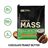 OPTIMUM NUTRITION Serious Mass Weight Gainer Protein Powder, Chocolate Peanut Butter, 12 Pound (Packaging May Vary)