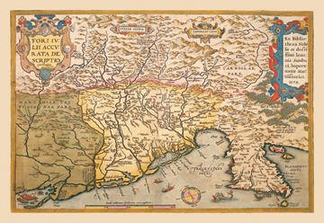 Map of Southern Europe 28x42 Giclee on Canvas