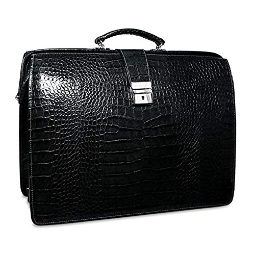 Jack Georges Croco Collection Classic Leather Briefcase