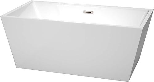 Wyndham Collection Sara 59 inch Freestanding Bathtub