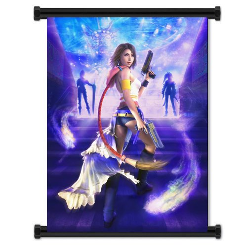 Final Fantasy X-2 Game Fabric Wall Scroll Poster  Inches