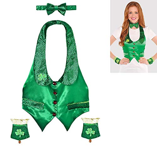 amscan St. Patrick's Day Green Satin Leprechaun Kit | Party Costume]()