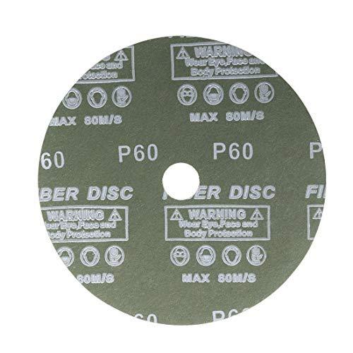 X 7//8 in. 7-inch aluminum oxide resin fiber discs