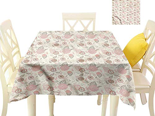 WilliamsDecor Table Cloths Spill Proof Vintage,Pastel Toned Flowers Christmas Tablecloth W 36