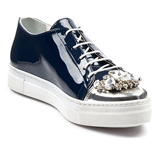 5 para Mujer de Fashion US BOBERCK Krista Zapatillas Moda Coleccion Azul Sneakers wq46Fz1