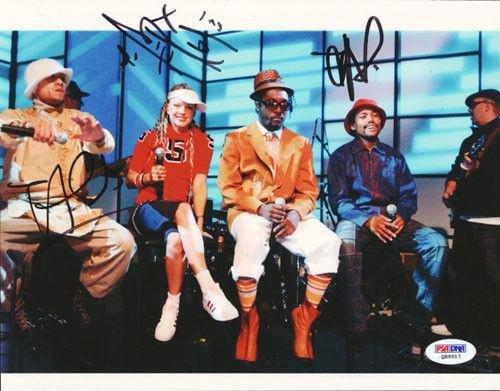 Black Eyed Peas Autographed Signed 8x10 Photo Fergie, Taboo Apl De Card - PSA/DNA (Black Eyed Peas Photograph)