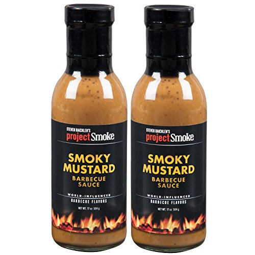 Steven Raichlen Project Smoke BBQ Barbecue Sauce- Smoky Mustard 2 Pack Barbeque Set
