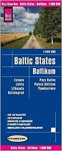 Reise Know How Landkarte Baltikum Baltic States 1 600 000