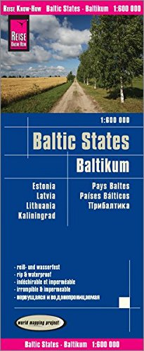 Reise Know-How Landkarte Baltikum (1:600.000) : Estland, Lettland, Litauen und Region Kaliningrad: world mapping project