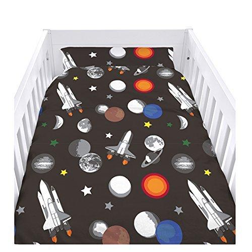 Ready Steady Bed Galaxy Design Nursery Cot Duvet Cover Set
