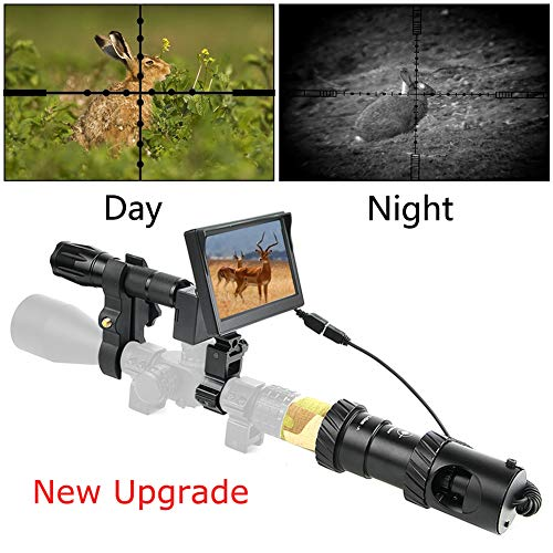 "BESTSIGHT DIY Digital Night Vision Scope for Rifle Hunting with Camera and 5"" Portable Display Screen"