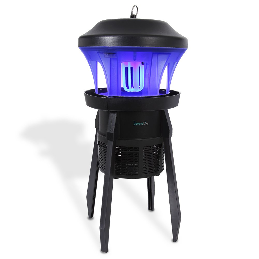 SereneLife Waterproof Bug Zapper Outside - Electric Pest Repeller, Electronic Insect Killer, UV Light, Eco Friendly, 330+ Feet, Indoor/Outdoor, Great for Flies, Mosquitoes, Beatles, Moths -(PSLBZ25) by SereneLife