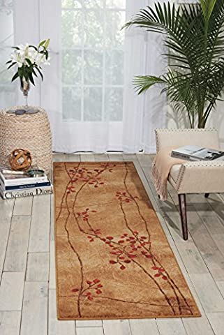 Nourison Somerset (ST74) Latte Runner Area Rug, 2-Feet 3-Inches by 10-Feet (2'3