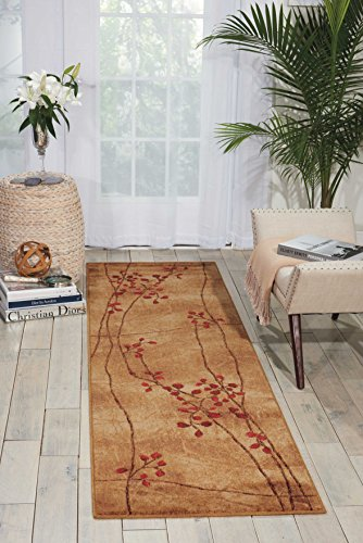 Acrylic Contemporary Rug (Nourison Somerset (ST74) Latte Brown Area Rug, 2' x 5'9