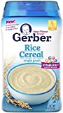 Gerber Cereal Rice, 8 oz (Pack of 2)