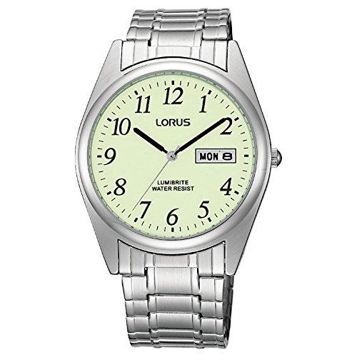 Lorus RXN29BX9 Gents Lumibrite Expanding Bracelet Watch - Expanding Bracelet Watch