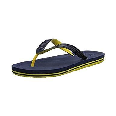 7f52b8f72 Polo Ralph Lauren Whittlebury Thong Flip Flops - Men s Navy Yellow   Amazon.co.uk  Shoes   Bags