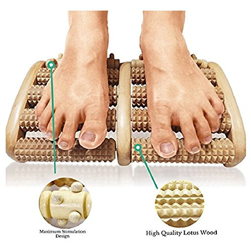 Foot Massager 2015 New Arrival Wooden Wood Roller Foot Massager Stress Relief Heath Therapy Relax Massage