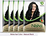 Natural Color Hair Henna Powder (Natural Black) 10G Pack of 10 by Nisha