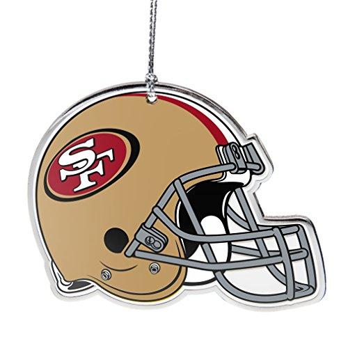 NFL San Francisco 49ers Flat Metal Helmet Ornament