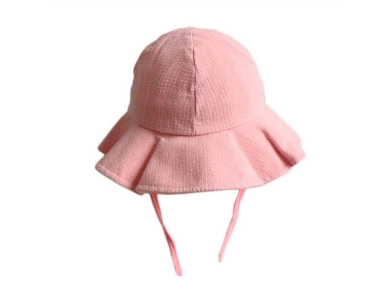 Infant Cap Lovely Ruffle Girls Sun Protection Hat Baby Packable Soft Cotton Hat Sun Visor for 0-3 Years Old(Pink) Baby Gift (Color : Pink, Size : 50cm)