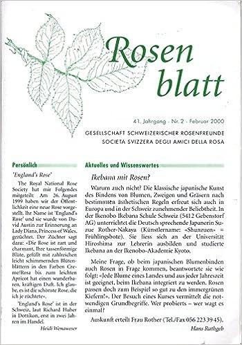 Ikebana mit Rosen?, in: DAS KLEINE ROSENBLATT, 2/2000.: Amazon.de ...