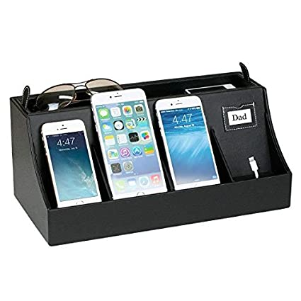 G.U.S. 4 Port USB Cell Phone Charging Station, Universal Charging Station  Organizer For Smart