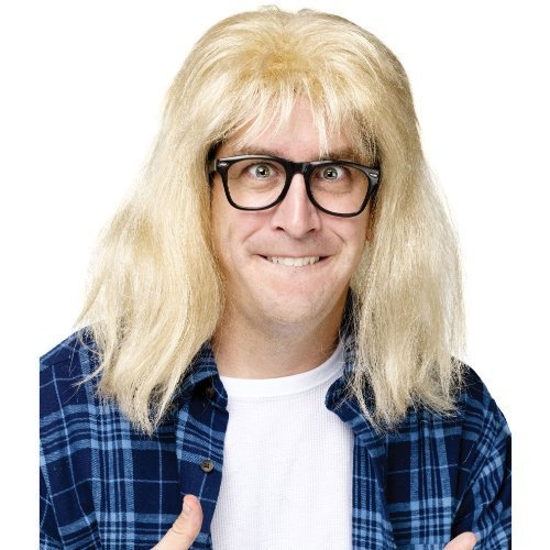 Garth Wig and Glasses Costume Accessory]()