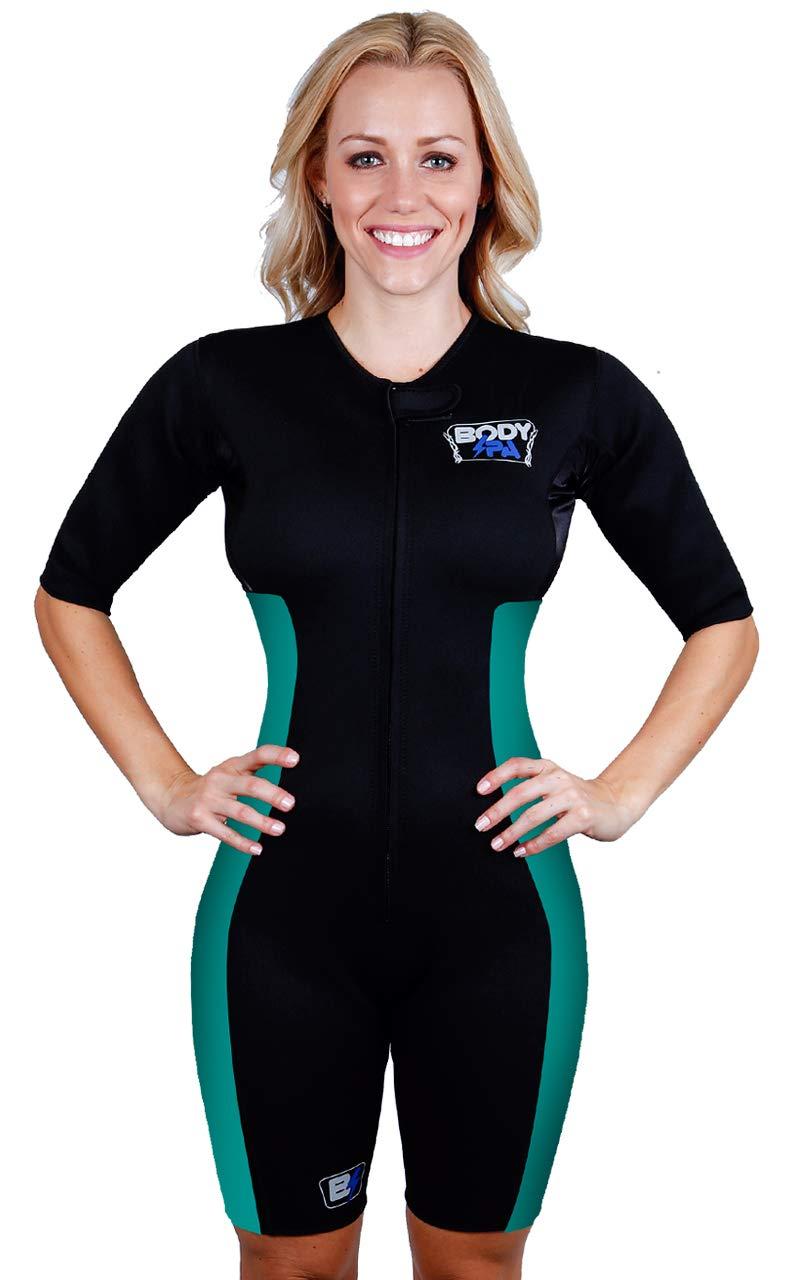 Sauna Suit Neoprene Weight Loss Gym Sport Aerobic Boxing MMA 13930 (Small, Mint)