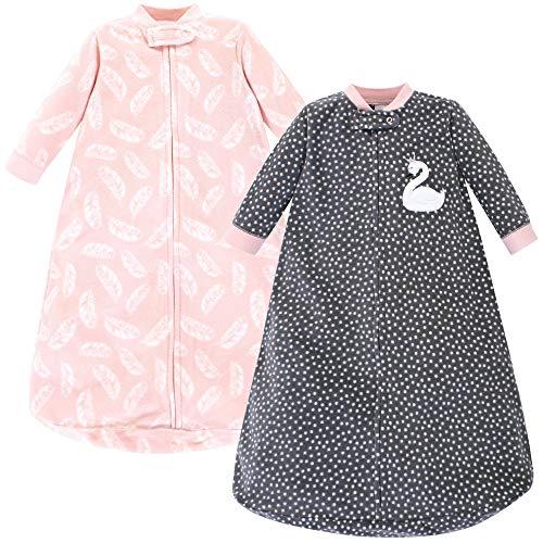 Hudson Baby Unisex Baby Long-Sleeve Fleece Sleeping Bag, Swan, 0-9 Months