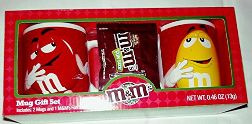 Fun Collector (M&M's Collector Mugs Set with Fun Size Bag of Plain M&M's Candy - Officially Licensed Product - Made in)