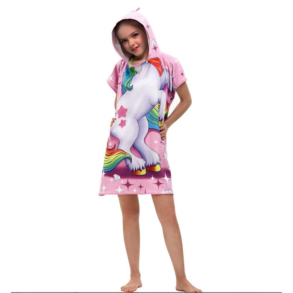 Dawhud Direct Kids Cotton Hooded Poncho Bath//Beach Towel Unicorn