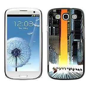 KLONGSHOP // Cubierta de piel con cierre a presión Shell trasero duro de goma Protección Caso - Akira Squad - Samsung Galaxy S3 //