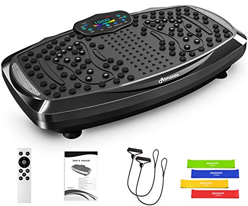 Atmonas Placa de vibración de Gran tamaño con Altavoz Bluetooth, 5 Modos de programación, 199 Niveles, 2 Bandas de Bucle…
