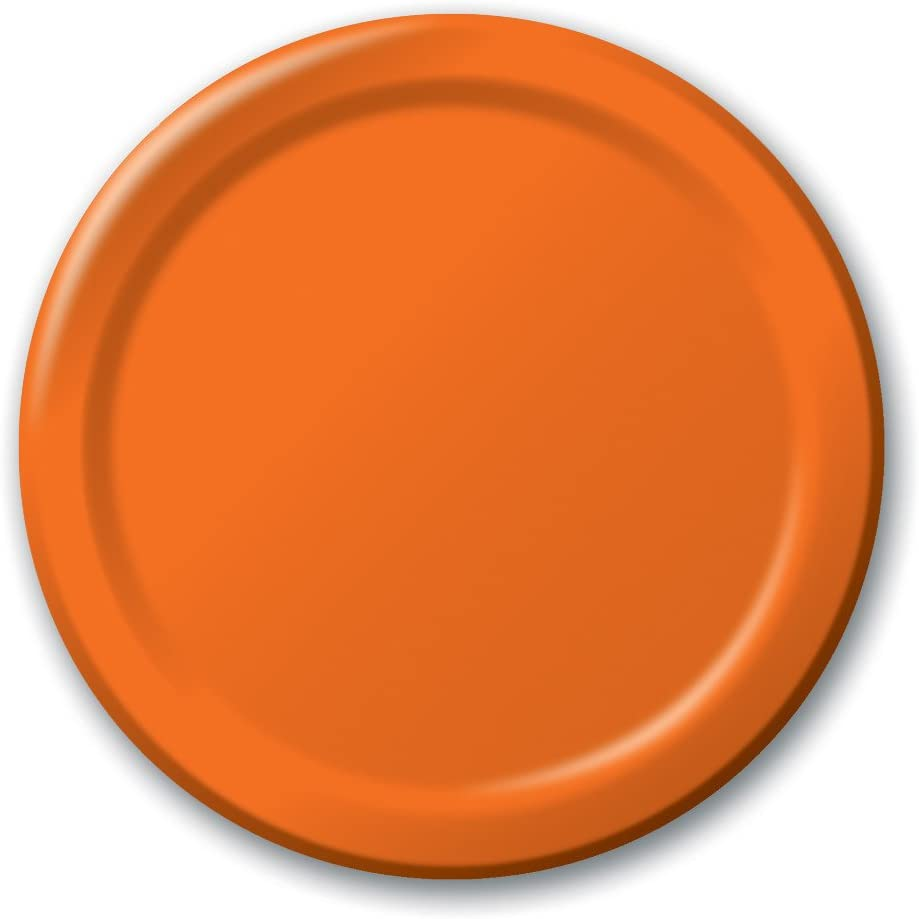 Creative Converting Touch of Color 24 Count Paper Banquet Plates, Sun-Kissed Orange -